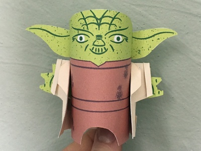 Day 32 starwars maythefourth yoda the100dayproject paperengineering toy papertoy creature papercraft paper monsters