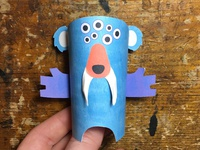 Day 35 the100dayproject paperengineering toy papertoy creature papercraft paper monsters