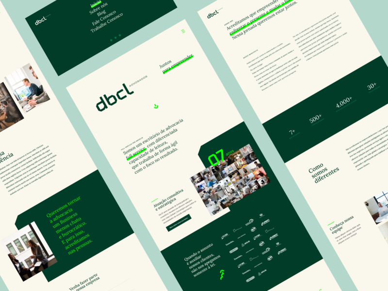 DBCL - Law Firm Website dbcl law office design ux design ui design law firm lawyer website design