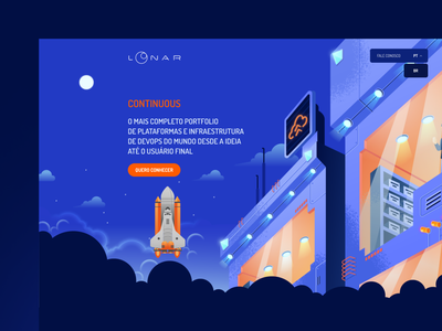 Loonar Website design ui ux illustration website app mobile design website design