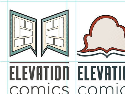 Elevation Comics Logo WIP elevation comics comics logo comp wip