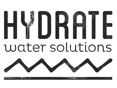 Hydrate - Water Solutions Logo WIP water logo concept