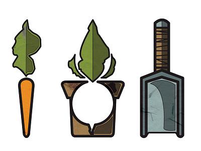 Provisions Logo organic logo garden plant seed provisions