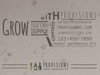 Provisions Business Card