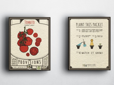 Provisions Seed Packet Design organic illustration garden plant seed provisions seed packet design