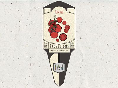 Provisions Plant Tag  organic illustration garden seed provisions plant plant tag tag design