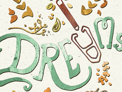 Plant your Dreams plant organic dream dreams typography type handlettering illustration