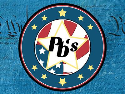 Pbody's Logo  logo americana american flag pbs restaurant logo