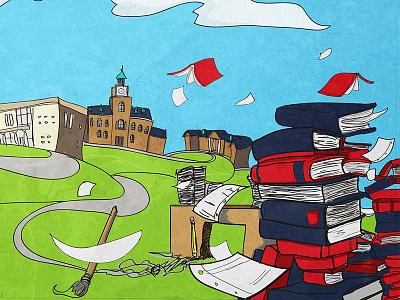 APSU Academics Illustration illustration apsu campus concept concept art studies books buildings