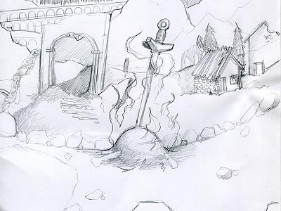 By the Bonfire bonfire dark souls dark souls soul illustration video game art concept fan art sketch
