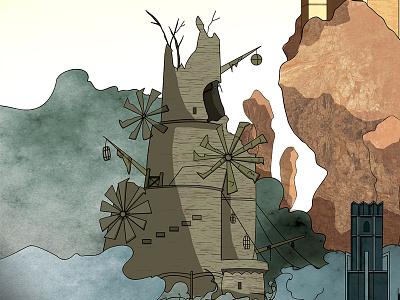 Earthen Peak bonfire dark souls dark souls soul illustration video game art concept fan art sketch
