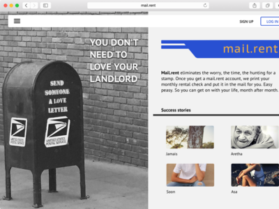 Mail.rent landing page