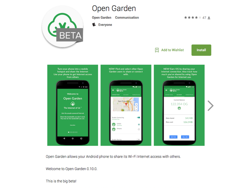 Open Garden Android App ixd android product design interaction design mobile ux