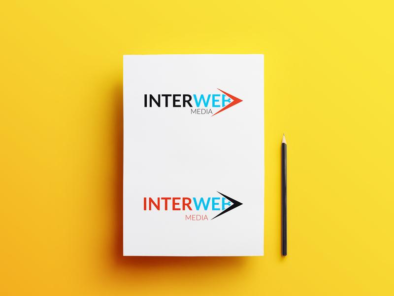 Interweb Logo concept web brochure layout brochure design brochure type clean typography lettering vector minimal logo illustrator illustration identity flat icon design branding