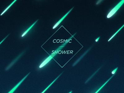 Cosmic Shower meteors shower cosmic