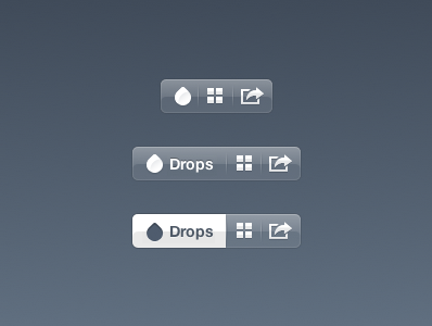 Frosty Jack : CSS Animated UI ui css animation drops gridview share icons