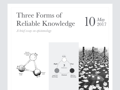 Three Forms of Reliable Knowledge escher stoics karl popper three forms