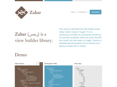 Zahar Pixels es js view library ecmascript javascript zahar
