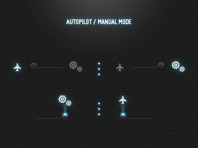 Web UI autopilot manual gears web ui slider arrows led knob icon icons