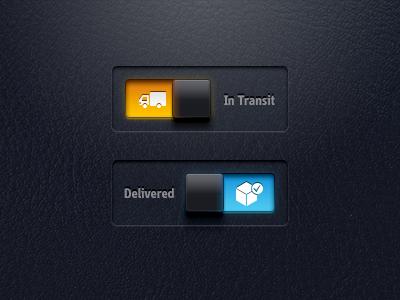Transit - Delivered transit delivery truck box tick interaction animation orange blue
