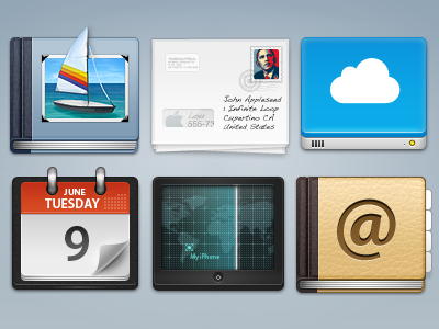 MobileMe Icons mobileme iconfest gallery mail idisk calendar find my iphone address book iconsutra india