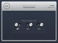 Selection List UI Frame