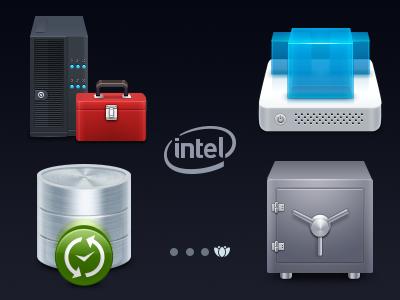 Intel icons ensemble