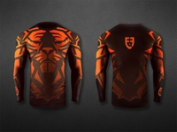 Epic Fighting rash guard mockup