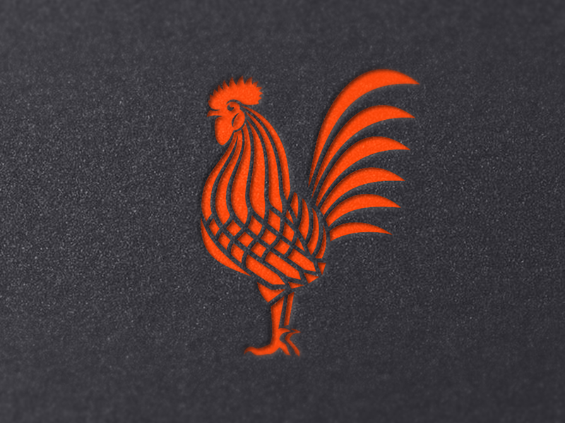 Rooster logomark camocreative rooster