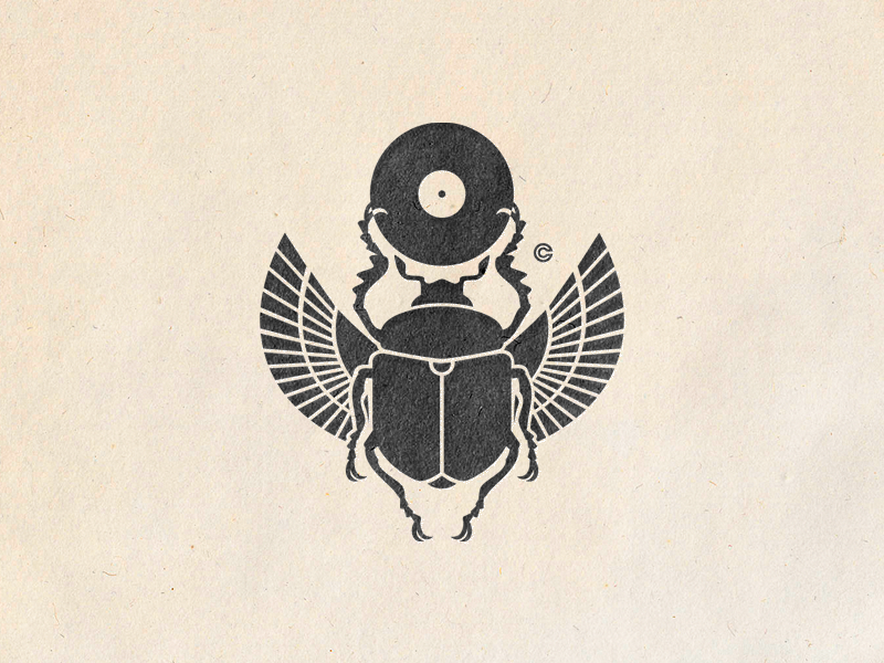 ScaraBass urban music insect nature camocreative logo