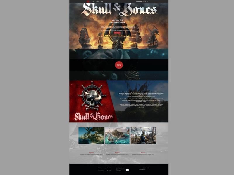 Skull And Bones Concept web ui ux