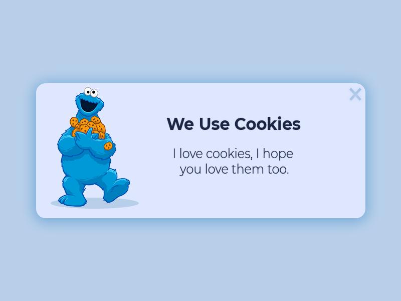 Cookie Monster Popup website vector web ui ux