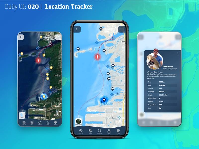 DailyUI 020 | Location Tracker