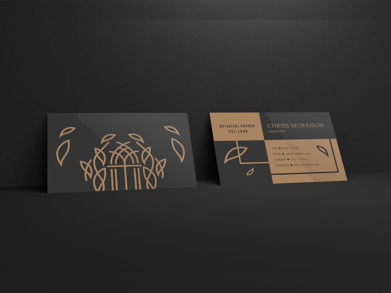 Botanical Garden Business Card