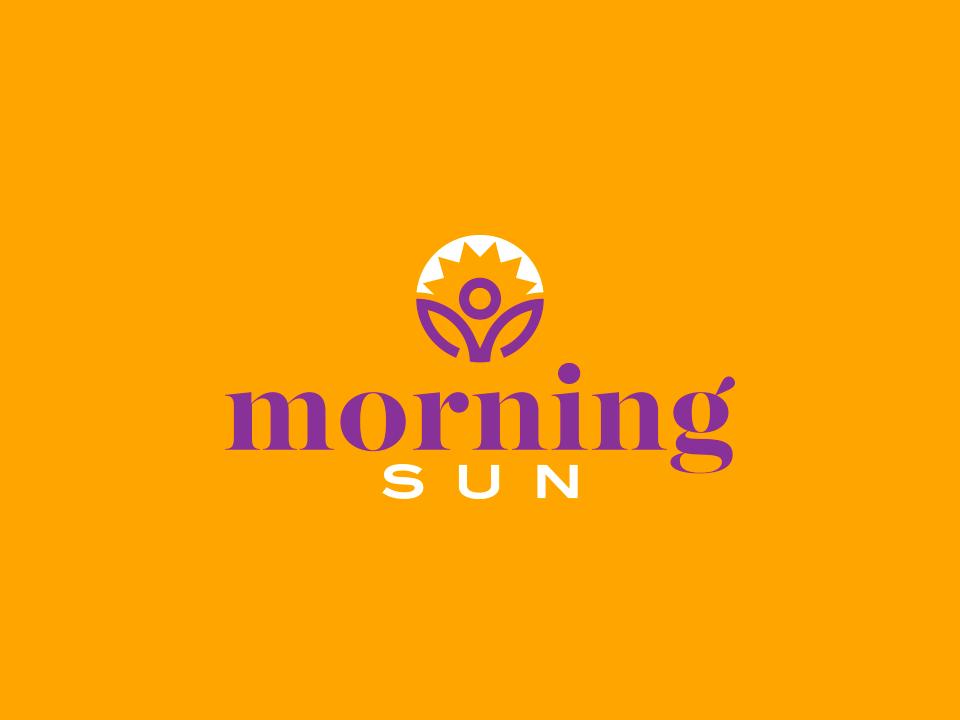 Morning Sun negative space logo a day brand lettering identity design brand identity logotype illustrator identity logo logo design illustration design clean adobe illustrator vector minimal icon flat branding