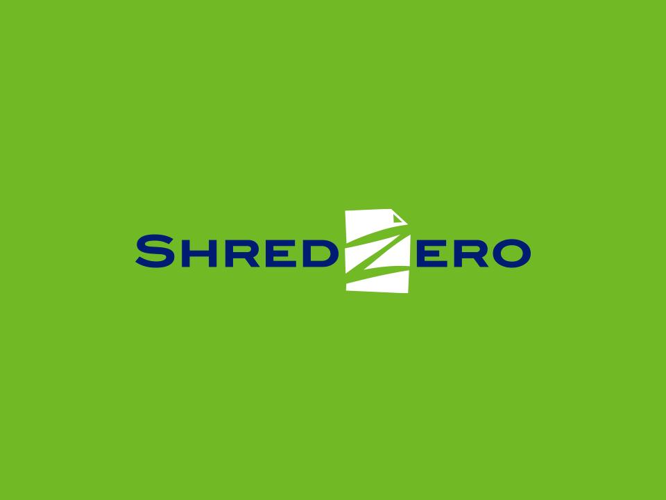 Shred Zero brand identity typography negative space marketing logo a day identity design illustrator identity logotype logo design logo illustration design clean adobe illustrator vector minimal icon flat branding