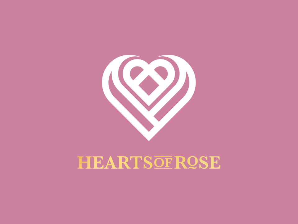 Hearts of Rose artwork graphic design logo a day typography brand identity brand identity design identity logotype logo design logo illustration design clean adobe illustrator vector minimal icon flat branding