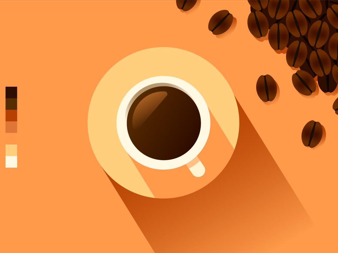 Coffee coffee beans vector artwork vector art illustration vector coffee