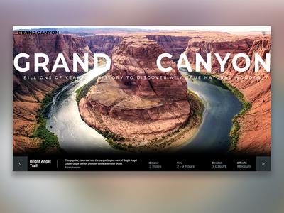 Grand Canyon National Park UI Design