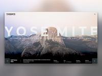 Yosemite National Park Landing Page