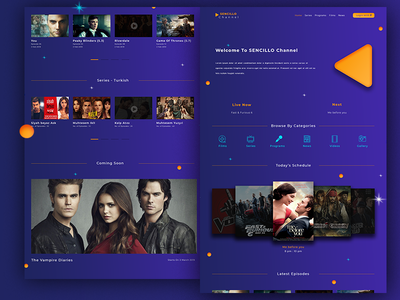 Tv channel website design tv series purple template websites tv channel website design designer tv channel website tv channel uidesign website development web web design webdesign website design website design