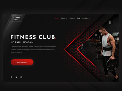 UI Fitness website design banner design website banner fitness club designer uidesign webdesign websites ui design gym website gym fitness website design fitness website fitness website design ui template web website design web design
