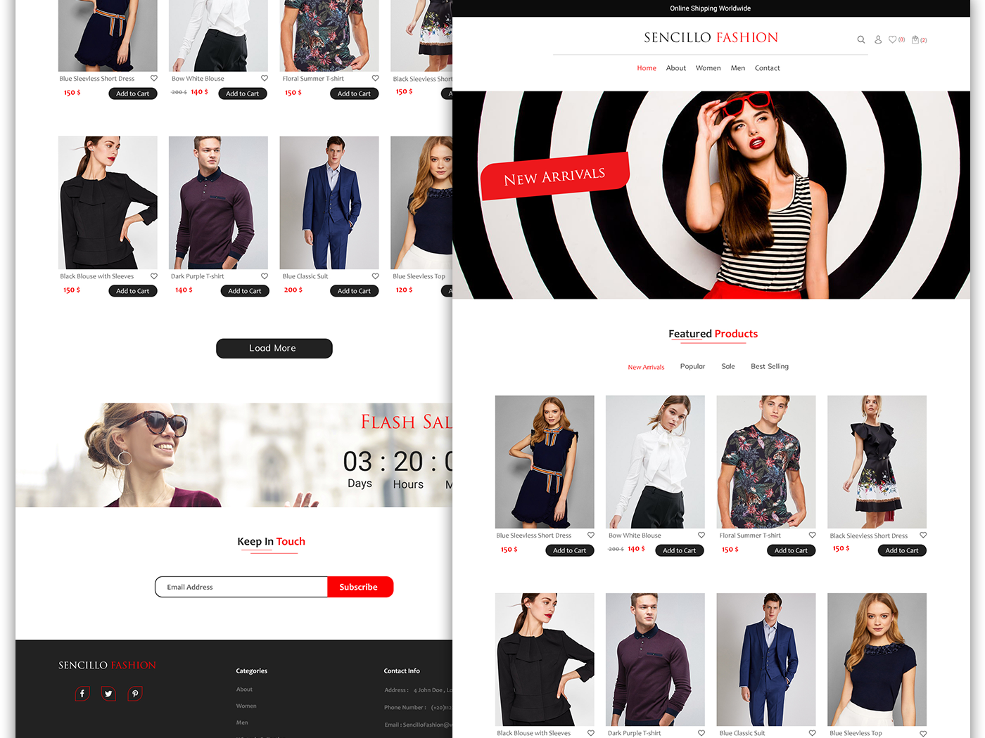 E Commerce Fashion Website Design By Sara Youssry On Dribbble