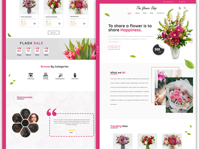 Flower shop website design flowers flowers website flower shop website flower shop designer design ui uidesign ui design websites template web webdesign website design website web design