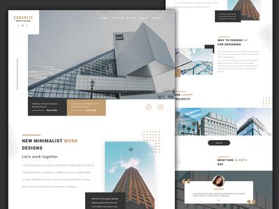 Real estate Architecture website design