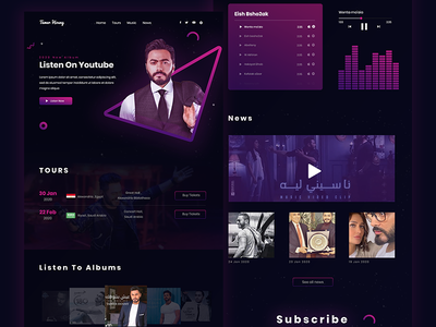 Tamer Hosny website design tamer hosny famous design websites music player personal website celebrity celebrity website singer website singer uidesign template web website banner design website design designer website ui design web design