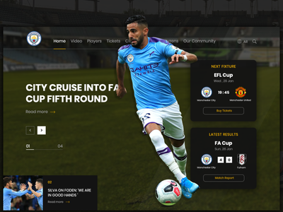 Man city website redesign ( unofficial ) club riyad riyad mehrez man city manchester city manchester sport football soccer ui webdesign uidesign websites ui design template design web website design website web design