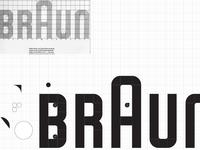recreating the classic Braun logo