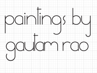 working on a logo for my painting show
