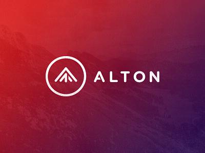 Alton Logo Design gradient futuristic logo mark symbol
